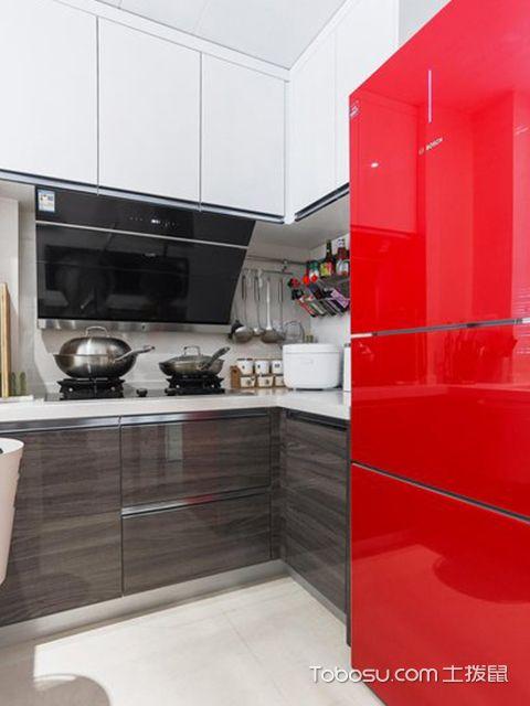 90平米三室两厅案例—厨房