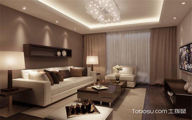 咖啡色沙发背景墙之简约风格