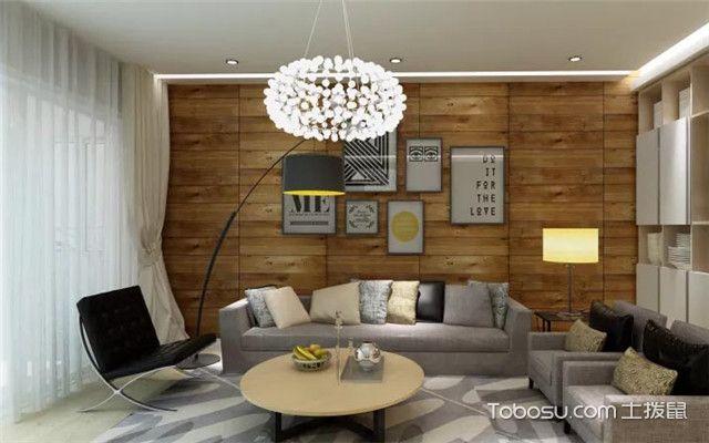 咖啡色沙发背景墙之北欧风格