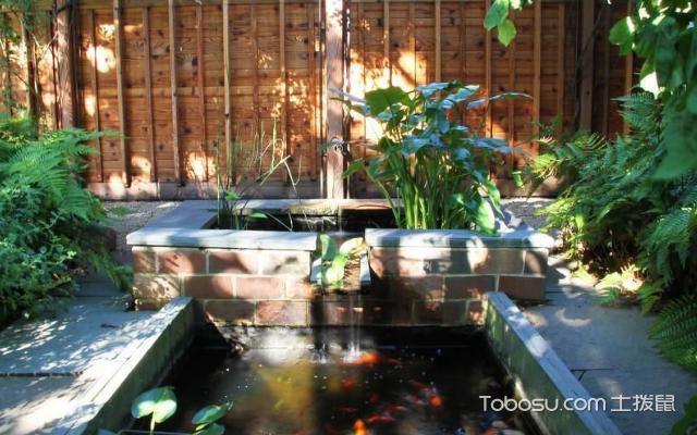 花园鱼池设计效果图