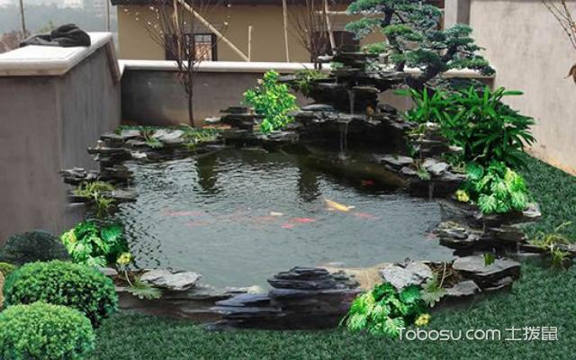 花园鱼池设计效果图 赏析
