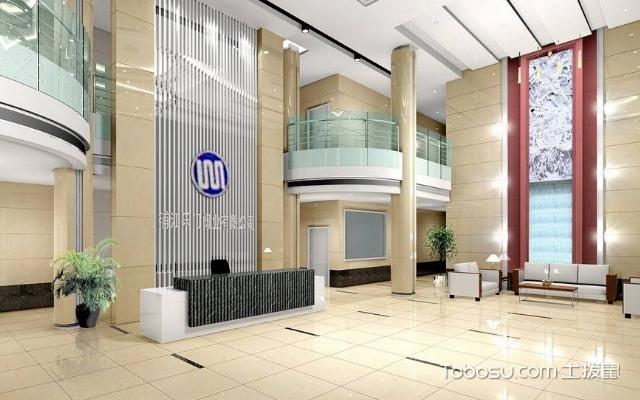 欧式办公楼一楼大厅效果设计图 风格