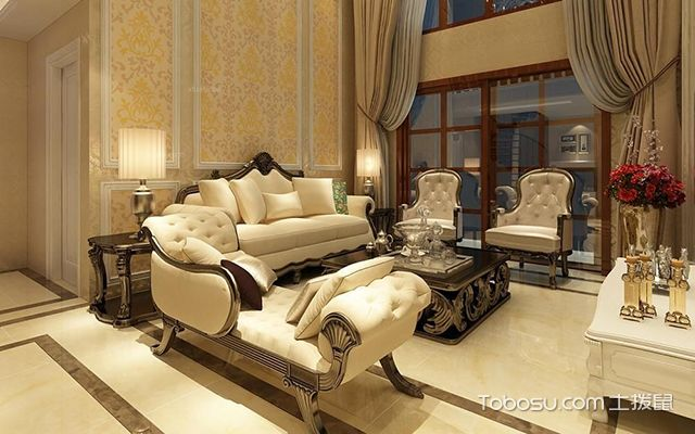 最容易学的家装配色方法之家装衬托色选用金银色