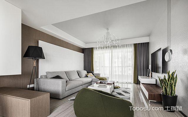 140平米三室两厅装修案例—客厅