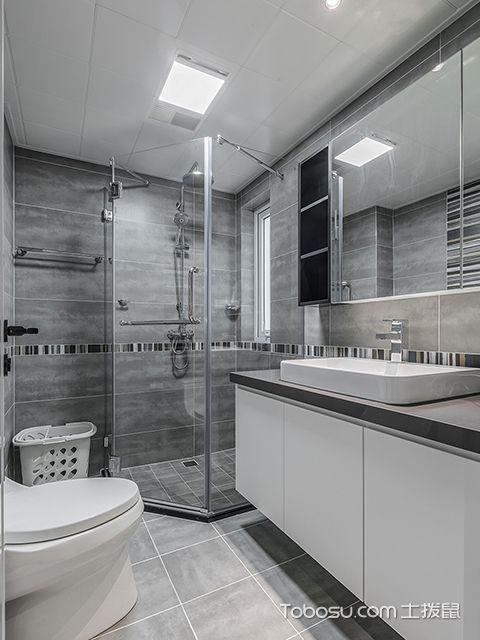 140平米三室两厅装修案例—卫生间