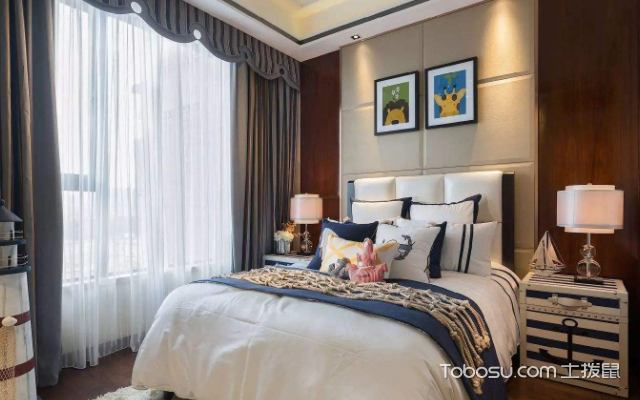 卧室床头墙装修效果图 案例