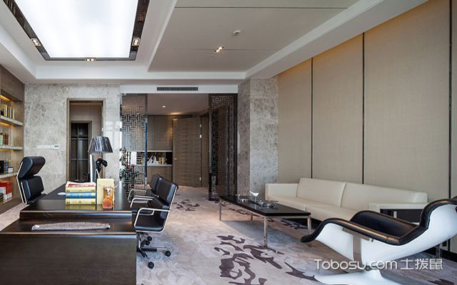 老总办公室沙发摆放风水之沙发不能放在梁下面