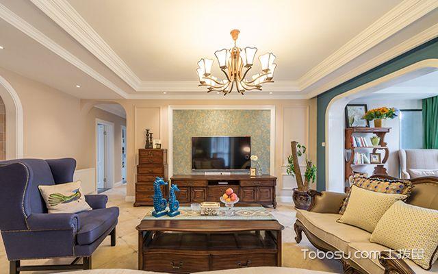 五种客厅电视背景墙装修材料之墙纸和壁布