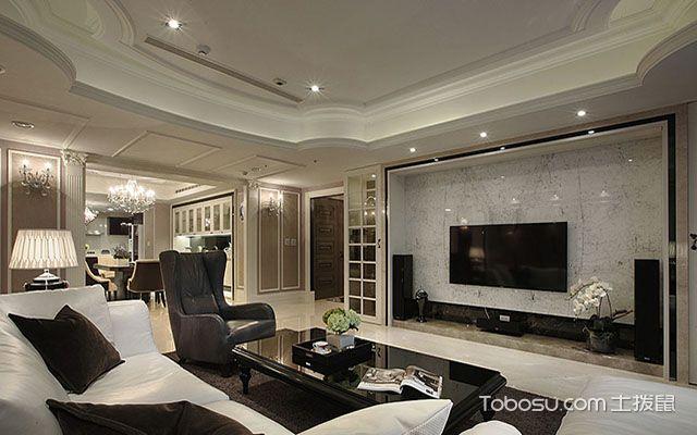 五种客厅电视背景墙装修材料之石材