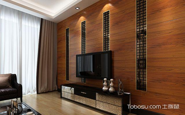 五种客厅电视背景墙装修材料之木材