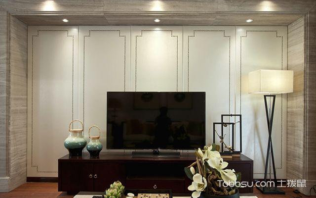 五种客厅电视背景墙装修材料之石膏板