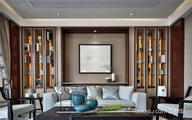 新中式客厅如何设计-背景墙设计