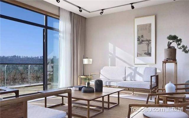新中式客厅如何设计-客厅窗帘
