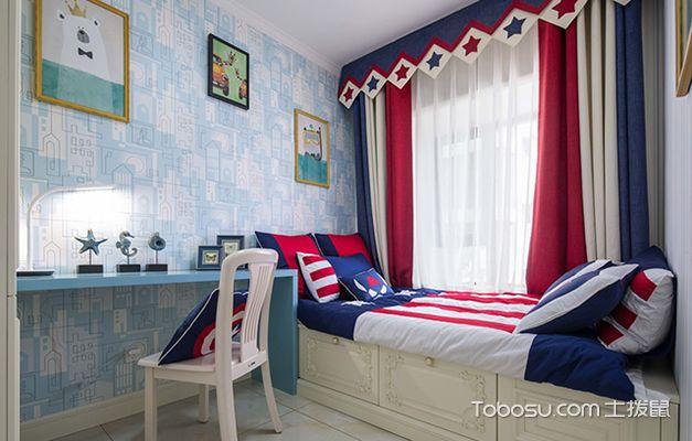 儿童卧室榻榻米装修图之美式儿童房