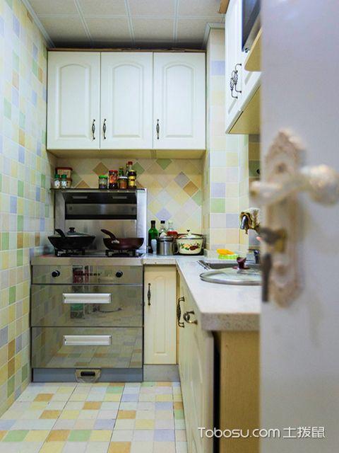 L型小厨房装修图之田园风L型厨房