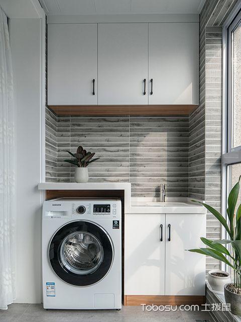 阳台储物柜效果图之洗衣机储物柜
