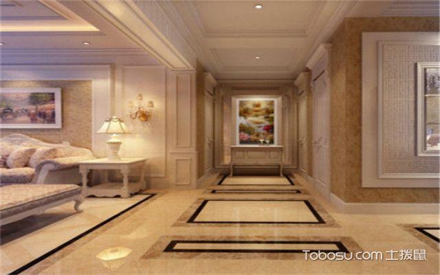 特色房间过道地砖效果图