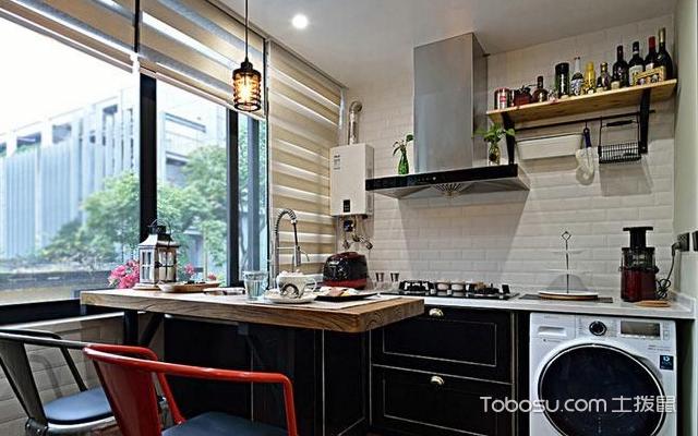 1米宽小阳台改厨房图 方法