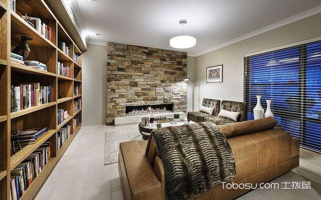 奢华书房兼茶室装修效果图