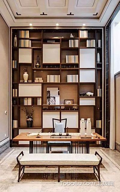 中式书房兼茶室装修效果图