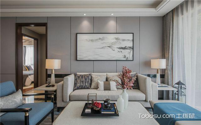 18平米四室两厅设计的沙发背景墙