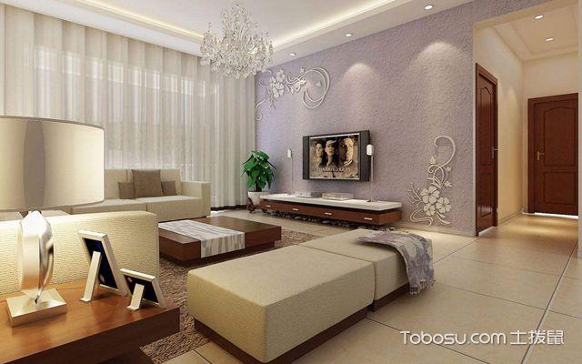 硅藻泥电视墙效果图1