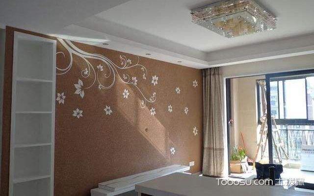 硅藻泥电视墙效果图3