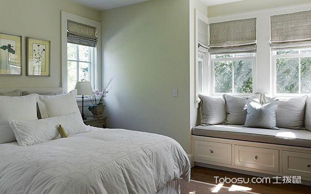 卧带飘窗装修设计图之收纳柜