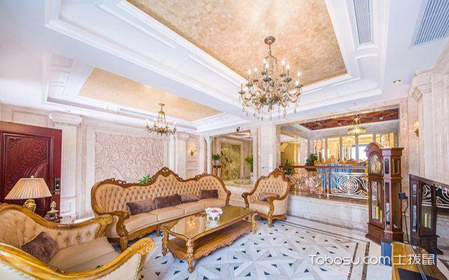 欧式装修客厅效果图之奢华欧式客厅装修