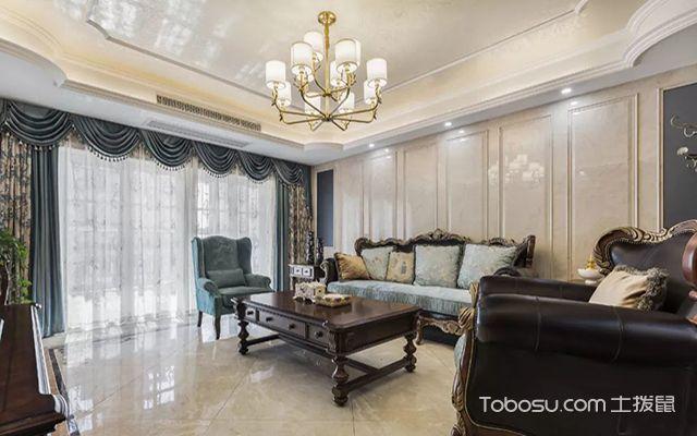 欧式装修客厅效果图之沉稳欧式客厅装修