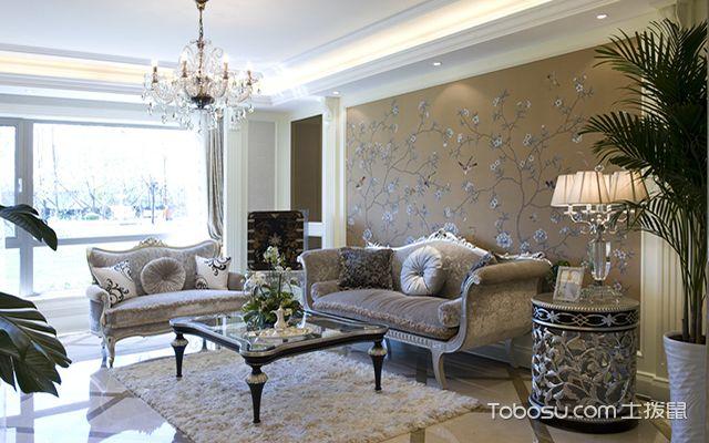 欧式装修客厅效果图之素雅欧式客厅装修