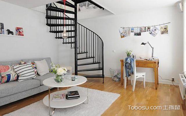 北欧风复式住宅装修效果图之客厅