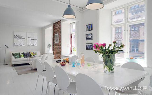 北欧风复式住宅装修效果图之餐厅