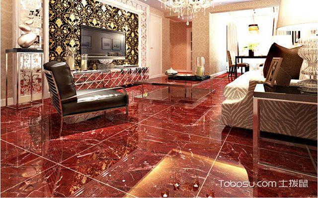 家装客厅地板砖效果图赏析