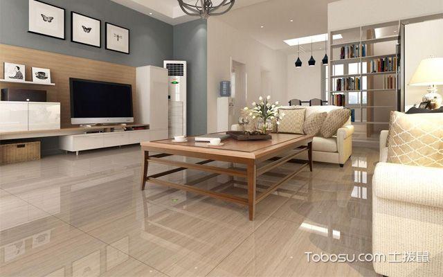 2018家装客厅地板砖效果图