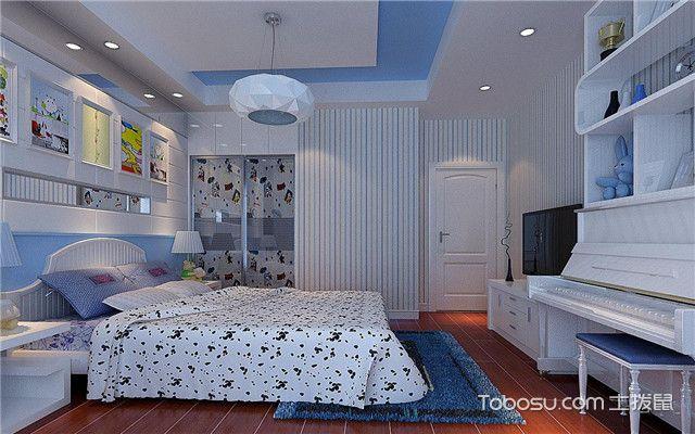 儿童房男宝宝卧室设计之竖条纹壁纸