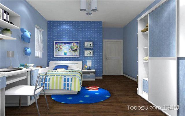 儿童房男宝宝卧室设计之白色睡床