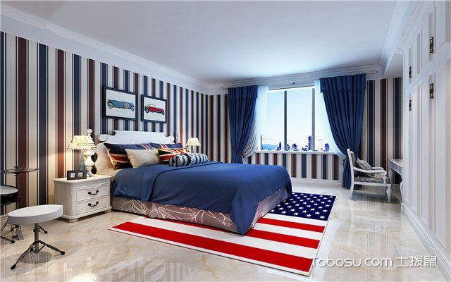 儿童房男宝宝卧室设计之国旗图案地毯