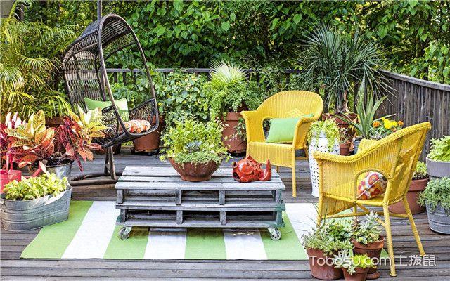 入户小花园装修效果图之色彩