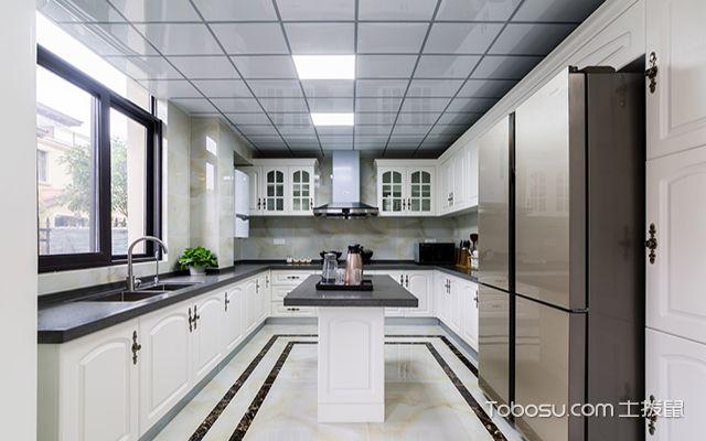 欧式风格厨房装修效果图之岛台欧式厨房设计