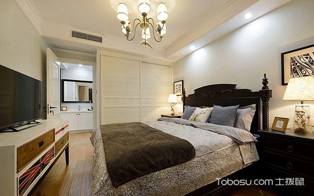 95平米两室两厅装修效果图之主卧