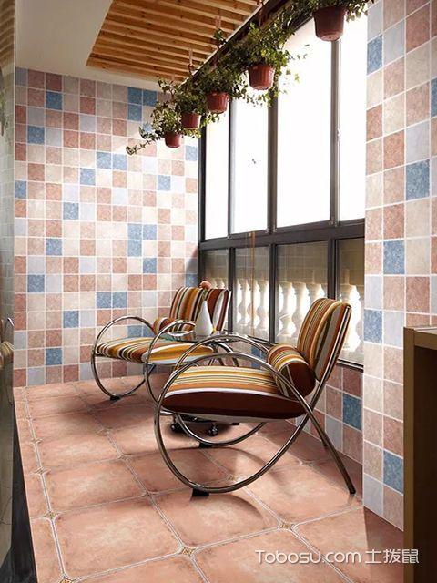 阳台仿古砖铺贴效果图之仿古砖吸水性好