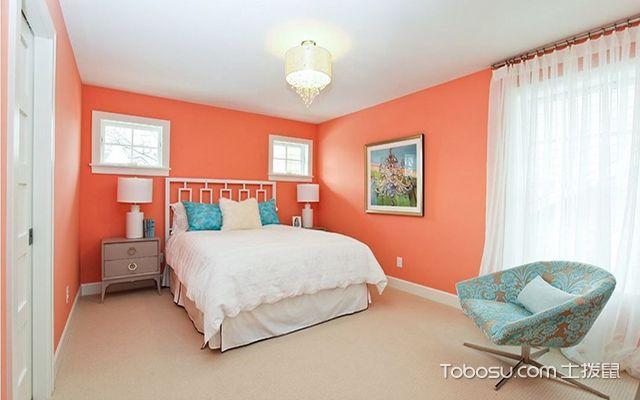 卧室装修色彩风水之橘色