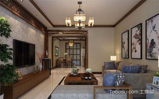 简约中式客厅装修效果图大全