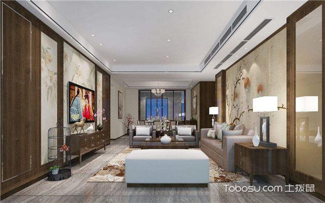 简约中式客厅装修效果图大全之素雅