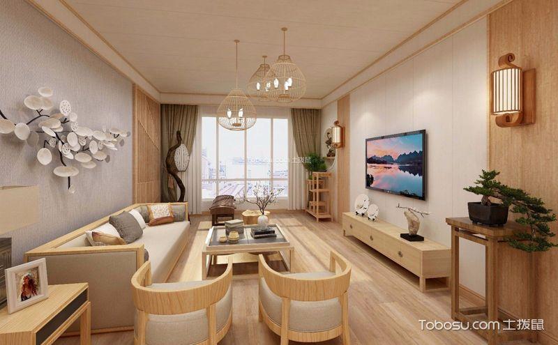 日式风格客厅装修设计案例,霓虹素雅时尚