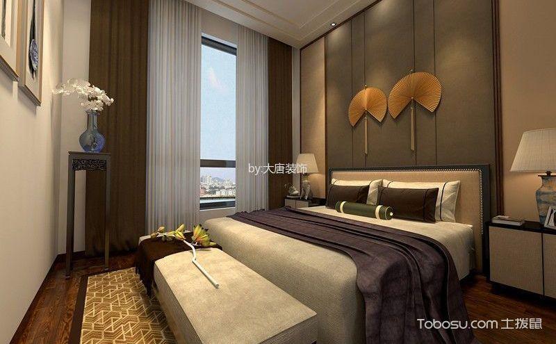 新中式风格卧室装修效果图,传统与现代的结合