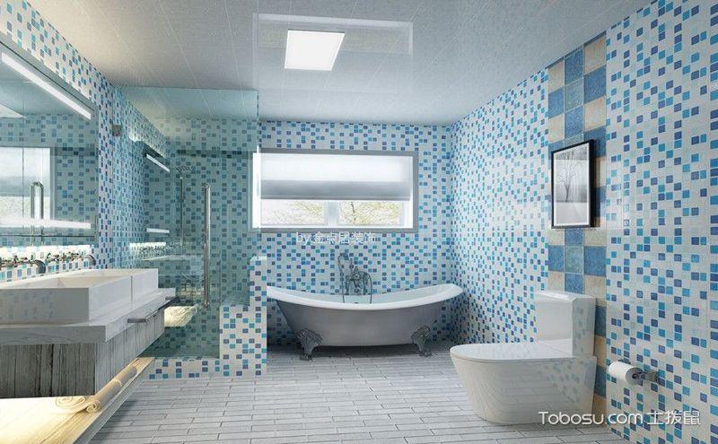 后现代风格卫生间装修案例,打造个性小空间