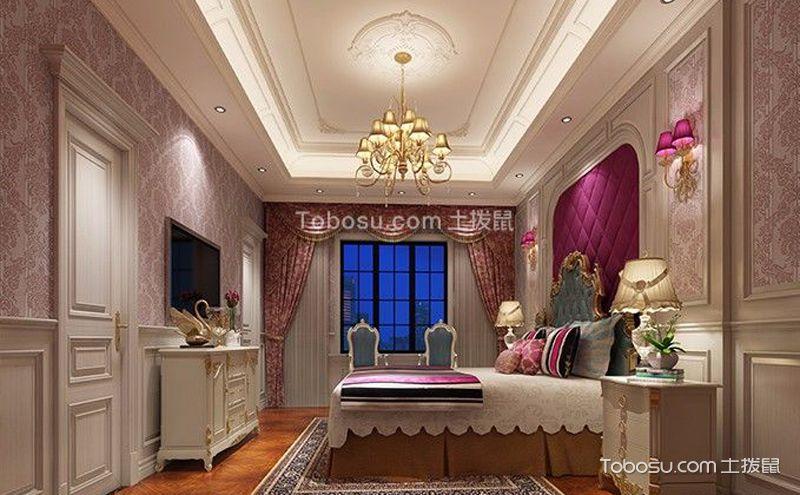 淡紫色卧室装潢案例,不只是浪漫优雅