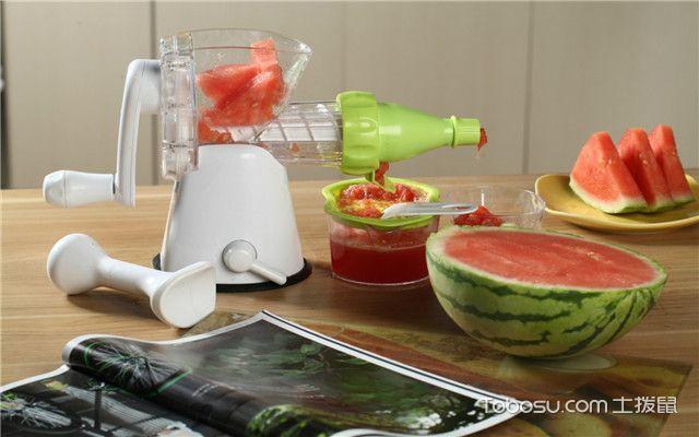 手动榨汁机怎么用之榨果汁